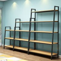 简约现代置物架客厅书架落地简易多层储物收纳架铁架子置物架铁艺
