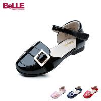 百丽Belle童鞋18新款女童时装鞋时尚摩登儿童皮鞋男女童浅口校园学生鞋 (5-10岁可选)DE0590