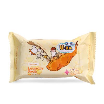 韩国Sanita U-ZA 婴幼儿大豆洗衣皂滋润温和抵御除渍洗涤去污204g