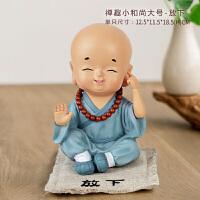中式小和尚摆件家居饰品创意小摆件可爱酒柜装饰品玄关摆设