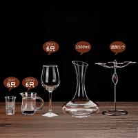 欧式家用玻璃高脚酒杯红酒杯醒酒器套装白酒杯子分酒器杯架31
