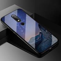 诺基亚2018版X6玻璃手机壳Nokia TA-1099保护套X卡通个性创意防摔软硅胶全包文字 诺基亚X6 2018版