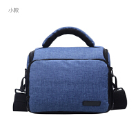 单反摄影单肩相机包便携适用佳能索尼尼康男女微单80D100D750DM6 小号 天蓝色