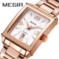 韩版潮流女表轻复古时尚方形手表进口机芯日历钢带表