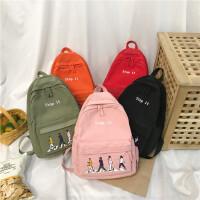 双肩包男女休闲书包学院风中小学生防泼水背包旅行包