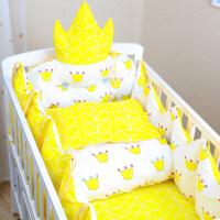 宝宝婴儿床围防撞上用品全纯棉新生儿童秋冬款四季通用三四七件套