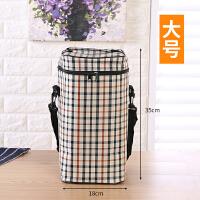 大号三层圆形保温手提拉链饭盒袋饭盒加厚铝箔便当包防水保温桶袋