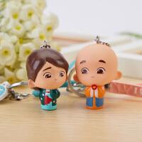一禅小和尚汽车钥匙扣女挂饰创意小书包钥匙链情侣公仔可爱