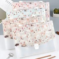 国芳的猫 13入风琴包 创意唯美可爱学生文件袋资料夹手提事务包A4