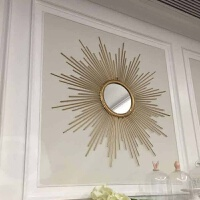 铁艺壁饰挂件欧式太阳镜壁挂家居客厅背景墙面装饰品立体墙饰