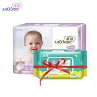 新品上线 柔爱至柔倍护 婴儿学习裤 Softlove倍感呵护宝宝纸尿裤XL36片单包装