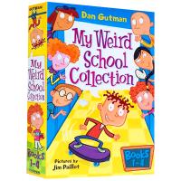 现货疯狂学校第一季1-4册盒装英文原版My Weird School Collection小学英语课外阅读教材 我的疯