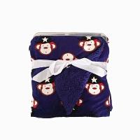 新生儿毯子法兰绒婴儿午睡毯宝宝盖毯珊瑚绒推车小毯子