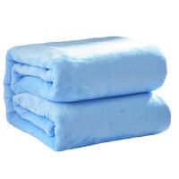 加厚360g单层纯色法莱绒毛毯素色空调休闲毯子珊瑚法兰绒床单