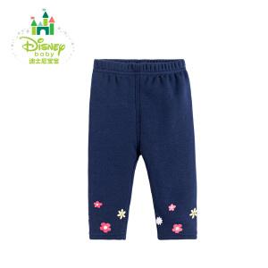 迪士尼Disney童装女童裤子春秋新装保暖长裤宝宝两用档打底裤173K765