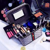 化妆包多功能大号手提化妆品收纳箱韩国便携大容量化妆箱多层