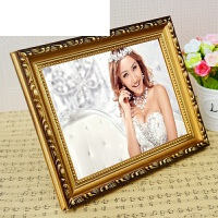 欧式实木相框 金色照片框5寸6寸7寸8寸12寸摆台相框 画框挂墙