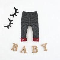 1一3岁女宝宝秋冬装打底裤女童裤子加绒加厚双层0-12个月婴儿长裤