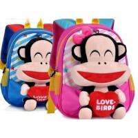 全国包邮大嘴猴幼儿园小班中班背包可爱绒毛公仔儿童双肩包PKY2081
