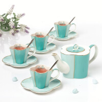 花茶茶具带过滤欧式骨瓷下午茶茶具咖啡杯咖啡具套装