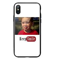 假笑男孩手机壳苹果xs可爱8plus玻璃iphone7抖音同款6sp搞怪表情