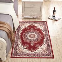 欧式地毯卧室书房床边地毯客厅沙发茶几垫家用美式田园风格可水洗