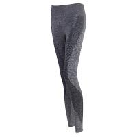 高腰高弹力紧身裤运动裤跑步训练裤蓝色瑜伽裤速干健身裤女薄夏S