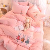 新品秒杀水晶绒四件套冬季双面绒加厚珊瑚绒卡通被套女床上法兰绒儿童床单