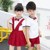 幼儿园园服夏装短袖小学生校服儿童夏季班服男女童演出服运动套装