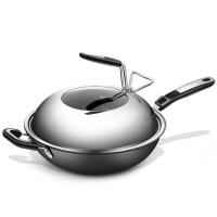 炒锅电磁炉燃气灶适用平底烟铁锅家用炒菜锅具