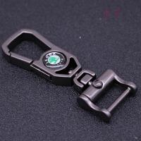 上海大众汽车钥匙扣斯柯达晶锐明锐速派昕动简约男士腰挂钥匙链圈