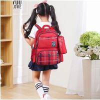 韩版书包小学生可爱女孩3-6三四五年级男减负轻便耐磨儿童双肩包