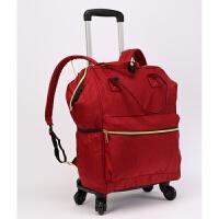 双肩包拉杆包男手提包万向轮大容量折叠拉杆袋女牛津布旅行包背包