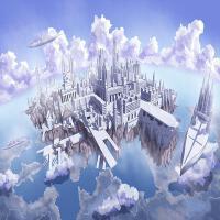 ?创意送女友生日定制礼物椴木拼图1000片儿童动漫玩具? 白色 天空之城1000分区