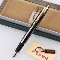 HERO英雄9653龙夹枪灰钢笔 铱金笔 墨水笔 美工笔 书法笔 弯尖钢笔 男士礼品笔