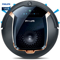 飞利浦(PHILIPS) 扫地机器人智能家用扫地机全自动充电扫拖一体机超薄可遥控地宝 FC8820/81黑色-金铜色