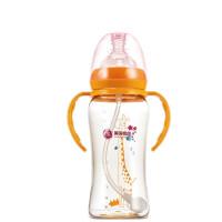 【支持礼品卡】宽口径ppsu奶瓶NGL格朗新生婴儿吸管宝宝奶瓶带手柄300ml5ya