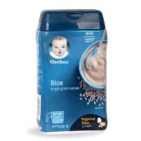 美国进口嘉宝婴儿米粉益生菌米粉+大米米粉+燕麦米粉227g*3桶套装