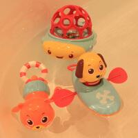 游泳拉绳洗澡戏水玩具划水拉线上弦上劲发条玩水玩具婴幼儿漂浮