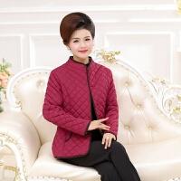 中老年女装冬装棉衣妈妈装立领小棉衣大码轻薄款棉袄外套 XL 建议90-110斤