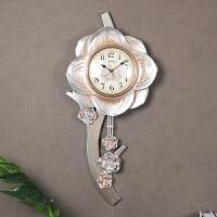 美式静音挂钟客厅创意个性钟表壁钟田园墙钟大号挂表卧室家用时钟 14英寸