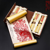 中国特色礼品送老外 手工剪纸丝绸剪纸挂画装饰画中国风出国礼物