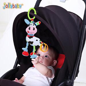 【每满100减50】jollybaby新生婴儿童宝宝动物拉震公仔玩具益智早教毛绒拉绳玩偶