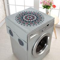 加厚棉麻洗衣机盖布多用家居冰箱罩双开门单开门冰箱滚筒洗衣机罩
