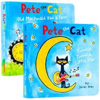 皮特猫童谣2本套装 英文原版 儿童英语启蒙绘本 Pete the Cat 苏斯博士奖银奖 皮特猫系列童谣绘本 廖彩杏书