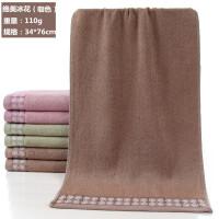 竹纤维毛巾加厚吸水枕巾擦手巾柔软家用洗面洗澡洗脸巾 76x34cm