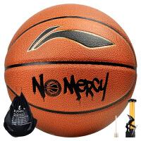李宁(LI-NING) 篮球CBA联赛指定用球PU材质防滑耐磨室内外比赛训练蓝球 LBQK281-1(七号篮球)
