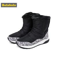 巴拉巴拉儿童鞋子男户外靴大童鞋2018新款秋冬中筒雪地靴加绒童鞋