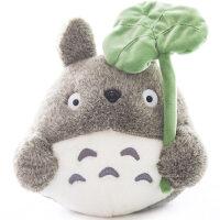 正版宫崎骏龙猫公仔抱枕毛绒玩具大号猫咪布娃娃儿童生日礼物女生 荷叶龙猫