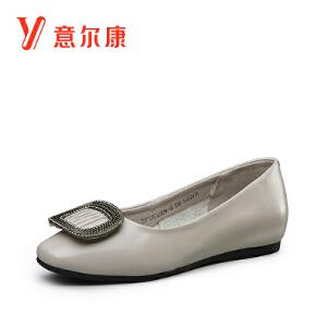 意尔康女鞋2017新款女士单鞋7771DE27979W